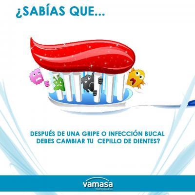 También es importante cambiar el cepillo de dientes después de un  resfriado 598c3fae0954