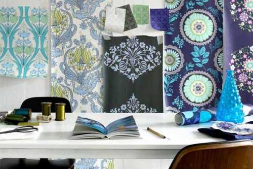 Tp papel tapiz como opci n decorativa bora cortinas for Como blanquear cortinas