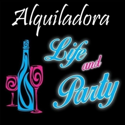 Logotipo - Alquiladora mesas, sillas, letras gigantes,carpas Life and Party