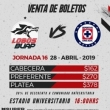 Lobos Buap VS Cruz Azul - Liga MX: Clausura 2019