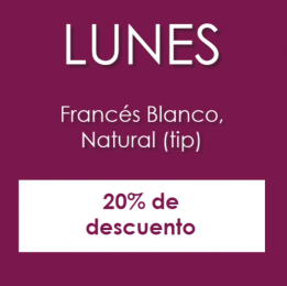 Lunes de francés blanco - Alejandra Villagómez Nails Boutique - Puebla